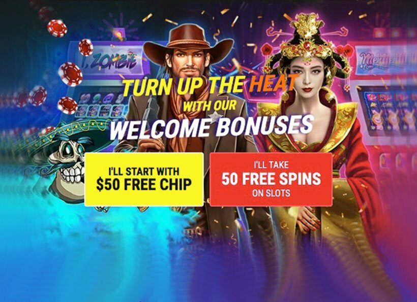 $50 FREE CHIPS or 50 FREE SPINS AT PLANET 7 CASINO – EXCLUSIVE OFFER