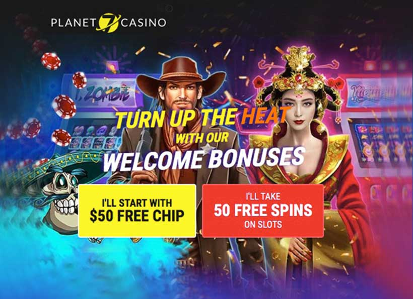 50free spins or 50 free chips exclussive offer