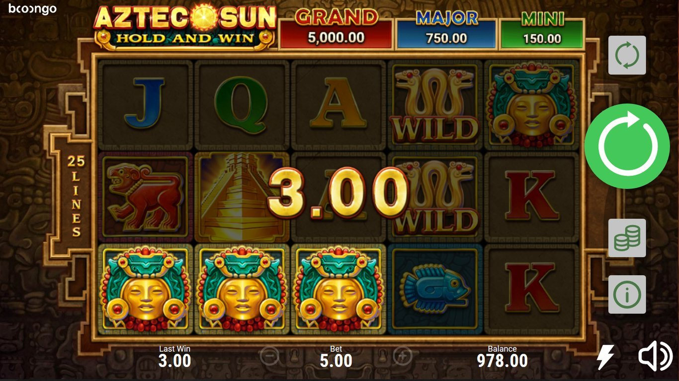 10 Free Spins on Aztec Sun Stone