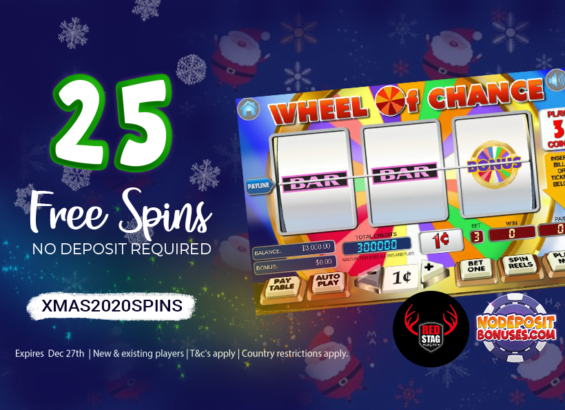 25 free spins wheel of chance